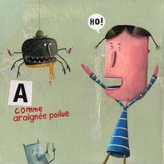 Crazy Alphabet - A comme araignée poilue #wow #french #kids #books