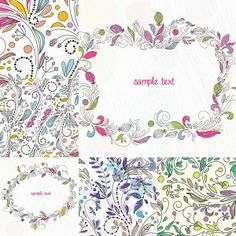Floral frames and prints vector - Free Download - CGIspread