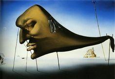 Artwork by Salvador Dalí, Sleep, Made of Oil on canvas