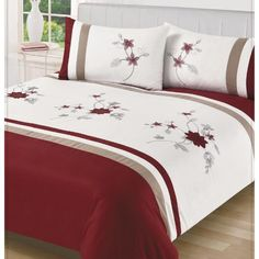 Embellished duvet cover plus 2 matching pillowcases Fabric: Soft touch microfibre Select size from drop down menu Duvet Covers, Comforters, Pillow Cases, I Am Awesome, Blanket, Bed, Furniture, Home Decor, Creature Comforts