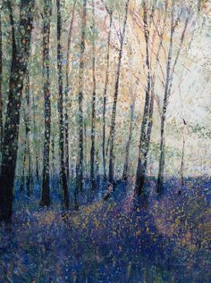 ARTFINDER: Capturing the light by Kirstin Handley - Walking, seeing , experiencing a bluebell carpeted forest is an occasion to seize. I created the original painting using sennelier oil pastel, and acrylic. ...