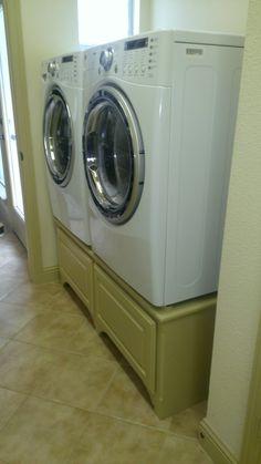 meuble pour sur lever les machines laver et s cher le linge inspiration pinterest le. Black Bedroom Furniture Sets. Home Design Ideas