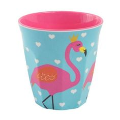 Flaming Print Melamine Cup - By Ginger Lifestyle - Pinks & Green Cake Kit, Pastel Party, Flamingo Print, Perfect Cup, Party Bags, Unicorn Party, Pink And Green, Party Time, Shabby