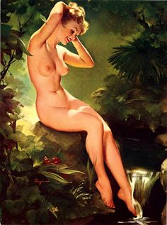 Gil Elvgren Art | The Lifting of the Veil - Enchanting Illustration by Gil Elvgren ...