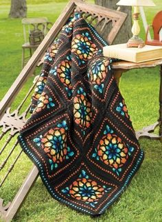 Stained Glass Afghan by Red Heart. $59.99. This spectacular afghan is simply stunning.