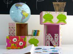 Cajas de madera decoradas en decoupage. Wooden box decoupage. www.elpiojito.es