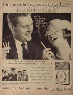 It's Mashed Potato Time!: Vintage Smoking Ads.. A Visual Feast