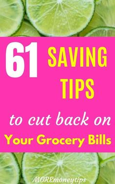 69 Ways to Cut Your Grocery Bill in Half - More Money Tips - Start saving today. Now is the time. These 61 saving tips will cut back your grocery bills forever. Money Saving Meals, Best Money Saving Tips, Money Saving Challenge, Save Money On Groceries, Ways To Save Money, Money Tips, Groceries Budget, Money Budget, Frugal Living Tips
