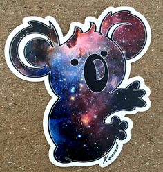 - Description - Details Look up and get lost in the stars or just look at your Galaxy Koala Sticker. Be a part of something great and Help Koalas & Children Koexist one creation at a time by wearing K