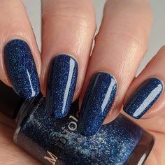 Navy And Silver Nails, Blue Acrylic Nails Glitter, Dark Blue Nails, Navy Nails, Sparkly Nails, Prom Nails, Purple Nails, Pearl Nails, Nail Polishes