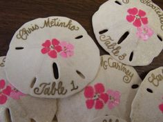 Use Sand Dollars on tables settings & to keepsakes for your guest. Beautiful idea for a beach wedding.