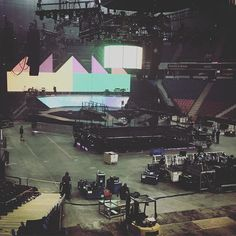 New lighting effects are in store 2day -- here is a sneak peak! #Sacramento #purpose #justinbieber #purposeworldtour2016 #purposetour #purposetoursacramento