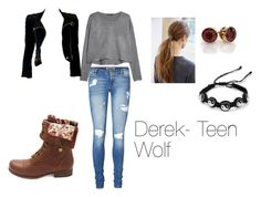 """Derek Hale- Teen Wolf"" by savannahmarie204 ❤ liked on Polyvore featuring MANGO, Vero Moda, Charlotte Russe, Balmain and CO"