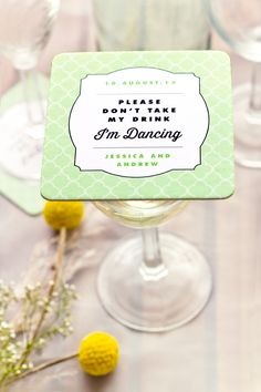Wedding Coaster Ideas from My Own Ideas blog #wedding #coasters #favor #reception great idea better even for plates for dinner or cake.