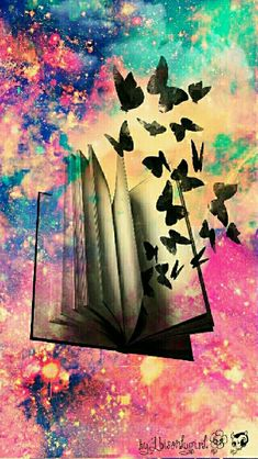 Fantasy book galaxy wallpaper I created for the app CocoPPa