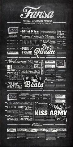 Concert layout - menu layout?