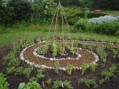 Spiral garden at Findhorn Ecovillage, Scotland. I want a spiral garden! Potager Bio, Potager Garden, Edible Garden, Vegetable Garden, Permaculture Design, Farm Gardens, Outdoor Gardens, Labyrinth Garden, Witchy Garden