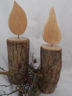 Schöne Kerze aus Holz - groß ) von Allgaeu-Andi                                                                                                                                                                                 Me
