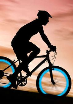 Light up the night! These LED lights come in pink, yellow, green, and blue and easily screw onto car, bicycle, and motorcycle wheels. That's what we call a joy ride.