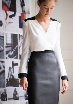 ROLAND MOURET Inca Bi-Material Skirt : Minimal + Classic : Nordhaven Studio