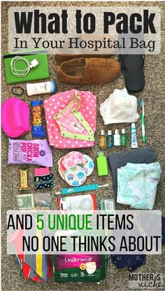 What to pack in your hospital bag for labor and delivery (for mom baby AND dad)…. What to pack in your hospital bag for labor and delivery (for mom baby AND dad). Some super helpful tips here! And some items I wouldn't have though of! Mama Baby, Mom And Baby, Baby Girls, Baby Driver, Shower Bebe, Baby Shower, Labor Hospital Bag, Hospital Bag For Mom To Be, Pack In Hospital Bag
