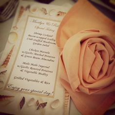 Flower napkin fold - for more ideas and inspiration like this, visit us at www.theweddingbelle.net