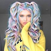 Ready to meet Tie-Dye hair? - Ready to meet Tie-Dye hair? Ready to meet Tie-Dye hair? Get colorful hair with Tie-Dye hairstyle! We will not miss colored hair simply because winter has arrived! Among the colored hair … Colored hair Cute Hair Colors, Pretty Hair Color, Beautiful Hair Color, Hair Dye Colors, Bright Hair, Pastel Hair, Ombre Hair, Pastel Rainbow Hair, Colorful Hair