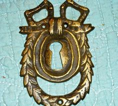 steampunk supplies  french key vintage old key hole keyhole floral gothic supplies jewelry victorian. $10.00, via Etsy.