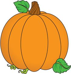 Fall Leaves And Pumpkin Clip Art