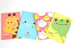 cute Korean Stationery - Animal Compact Notebook #KoreanStationery #Stationery #ayellowgiraffe #paper #cute #writemore #ayellowgiraffe