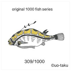 【uo_taku】さんのInstagramをピンしています。 《308/1000  以前に展示風景をご紹介しましたが、1,000枚の無地の名刺に1000種類の形も柄も違うオリジナルの魚を4色(黒、金、銀、紙の白)で描きました。 2015年11月6日より定期ですが、1日1匹を目安にご紹介していきます。どうぞお楽しみに。  i introduce the exhibition landscape previously.I drew a 1000 fish.Form also pattern and shape is  different all.all of design by original.so i used only 4colors(black.white.gold.silver) size is business card size(9cm×5cm) i will introduce one fish per day. please enjoy it. 2015.November6 start…