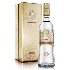 Russian Standard Gold New Luxury Vodka ❤ liked on Polyvore featuring home and kitchen & dining