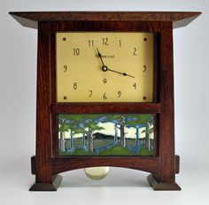 Pendulum Mantle Clock with 8X4 Tile