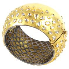 Rose Cut Diamond Raindrop Bracelet