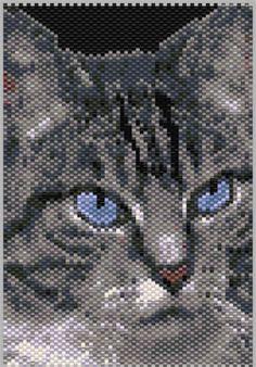 Gray Cat Peyote Pattern at Sova-Enterprises.com
