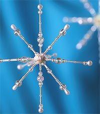 Beaded Snowflake Christmas Ornaments