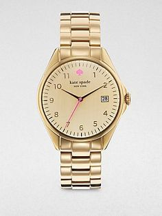 Kate Spade Watches Women's 1YRU0030 Large Gold Seaport Watch: $240