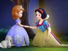 """Snow White will be Special Guest of """"Sofia The First"""" this Friday Plus Mulan, Tiana and Rapunzel Guest Star in Season 2 Sofia The First Cartoon, Princess Sofia The First, Cartoons Love, Disney Cartoons, Disney Junior, Disney Pixar, Disney Movies, Stitch Kingdom, Disney Princesses And Princes"""