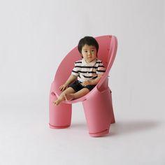 Die cut foam chair. Clever....
