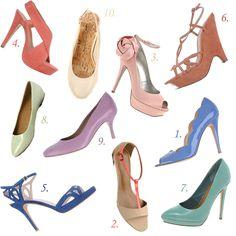 Spring / Summer 2013 Pastel Trend: Top 10 Pastel Shoes, Shoes, Shoes!   Vintage Tea Roses