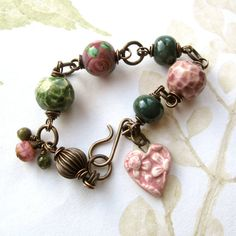 Love the mix of artisan beads in this...