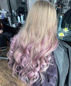 Full head of foils & With 2000 foils on ends. Purple Streaks, Ash Blonde, Long Hair Styles, Beauty, Long Hairstyle, Long Haircuts, Long Hair Cuts, Beauty Illustration, Long Hairstyles