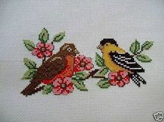 This Pin was discovered by nur Cross Stitch Needles, Cute Cross Stitch, Cross Stitch Cards, Cross Stitch Flowers, Cross Stitch Designs, Cross Stitching, Cross Stitch Patterns, Wool Embroidery, Cross Stitch Embroidery
