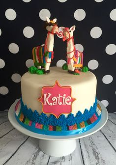 llama themed Birthday Cake