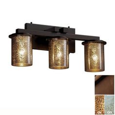 Cascadia Lighting�3-Light Fusion Dakota Dark Bronze Bathroom Vanity Light
