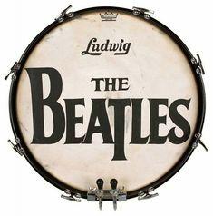 The famous Beatles logo on Ringo's Ludwig bass drum #Beatles #RockMusic