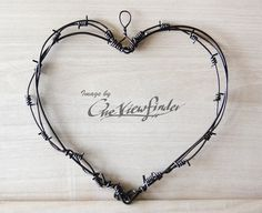 Rustic Wedding Decor . Barbed Wire Heart. Country by Oneviewfinder, $18.00