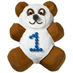 Precious Panda Cake  - Switch out the number and this cuddly bear design works for toddlers to pre-teens. After icing a Teddy Bear Pan cake, add realistic details using chocolate-covered candies, shoestring licorice, gumdrops and chocolate nougat candies.
