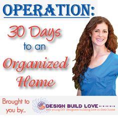 30 Days to an Organized Home (garage, bathroom, kitchen, closets, pant…