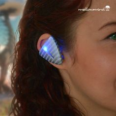 Horizon Zero Dawn inspired fan-made Aloy's Focus device. Fitted with battery powered blue LED light. #HorizonZeroDawn #AloyCosplay